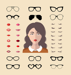 Big set of dress up constructor with vector