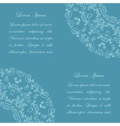 Blue background with vintage ornate pattern vector image