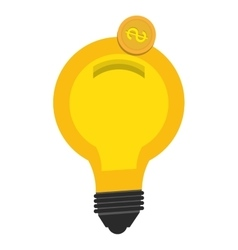Bulb or big idea isolated flat icon vector