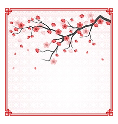 cherry blossom template vector image