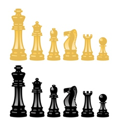 chess pieces vector image vector image
