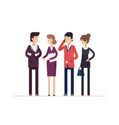 Colleagues at work - modern flat design style vector