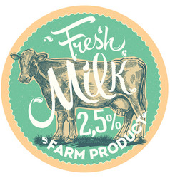 cow and label vector image vector image