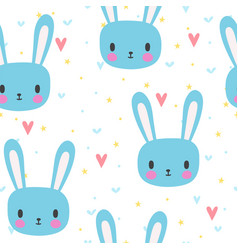 Cute seamless pattern for little boys with funny vector