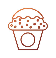 dessert food cup cake cream sweet bakery vector image