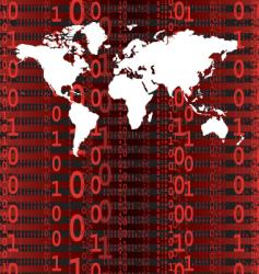 digital world red vector image vector image