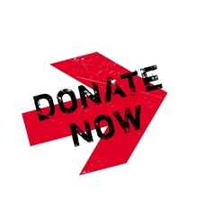 Donate now stamp vector
