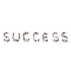 Group of people success poster vector image vector image