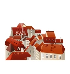 highly detailed town landscape vector image