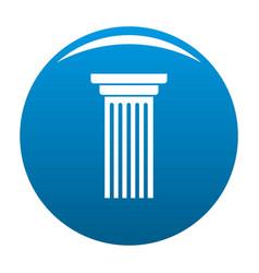 Italian column icon blue vector