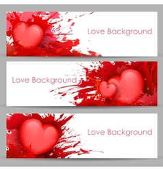 Love Banner for Valentines Day vector image vector image