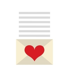 love card letter icon vector image