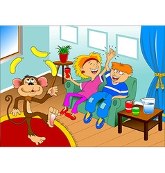 Monkey on holiday vector image