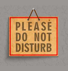 Please do not disturb sign vector