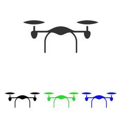 Quadcopter flat icon vector