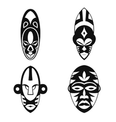 Set of African Ethnic Tribal masks vector image