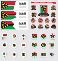 SET Vanuatu vector image vector image