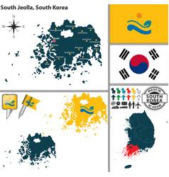 south jeolla province south korea vector image vector image