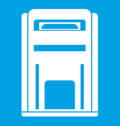 Square post box icon white vector