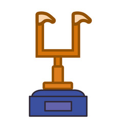 Trophy american football vector