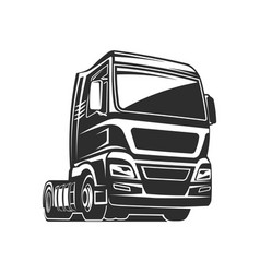 truck cargo freight monochrome vector image vector image