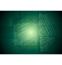 Vibrant green square drawing vector image