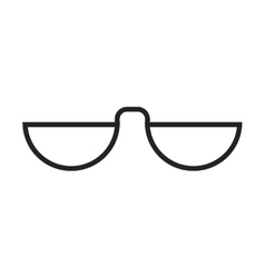 Glasses accessory fashion design vector