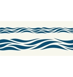 Seamless pattern with stylized blue waves vector image