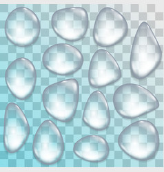 Collection of transparent water drops vector