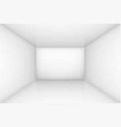 White empty room interior for design vector