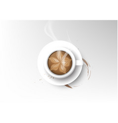 Isolated cup of coffee collection mocha vector