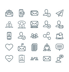 Communication icons set collection of read vector