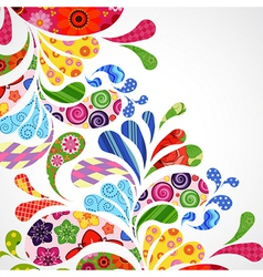 Splash of floral and ornamental drops background vector
