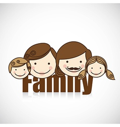 happy family consists of father mother girl and bo vector image