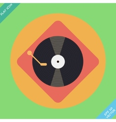 Turntable player icon flat design vector