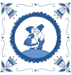 Delft blue children vector image