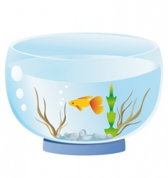fish bowl vector image