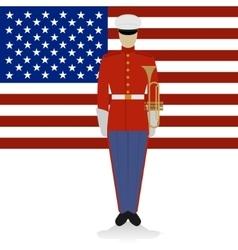 US Military Band Musician-1 vector image