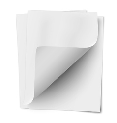 Stack of three empty white sheets vector
