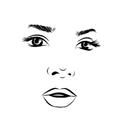 Beautiful fashion woman portrait for make up on vector