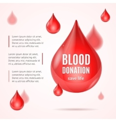 Blood donation concept vector