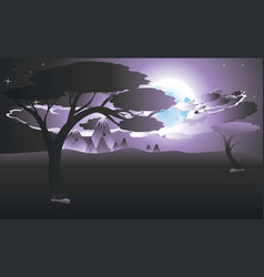 African night landscape vector