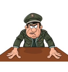 Angry military general vector image