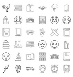 Bookmark icons set outline style vector
