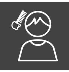 Brushing Hair vector image