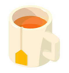 cup tea icon isometric 3d style vector image vector image