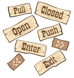 Door signs western vector