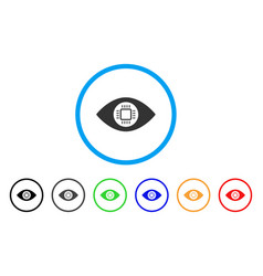 eye lens processor rounded icon vector image vector image