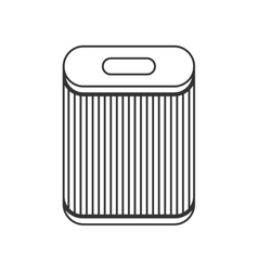 Filter for air purification dust absorption flat vector