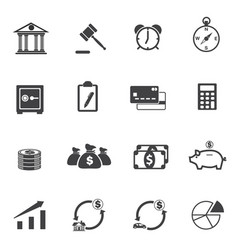 finance and investment icons set vector image vector image